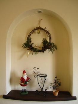 ハンドメイドのクリスマスリース
