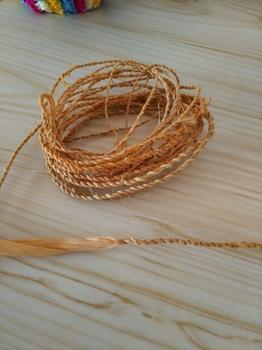 シナノキの繊維から作った縄