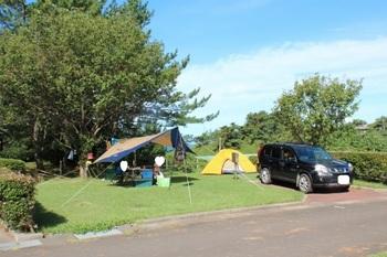 御所の台オートキャンプ場テントサイト