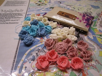 レース編みのお花モチーフ