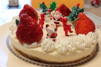 デコレーションヨーグルトクリスマスケーキ