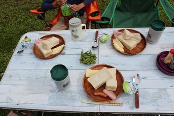 キャンプ飯・朝食