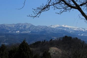 長谷堂城からの眺め