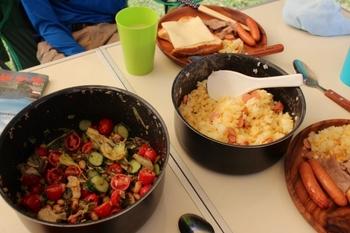 キャンプご飯・朝食