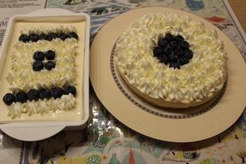 ブルーベリーの濃厚レアヨーグルトケーキ