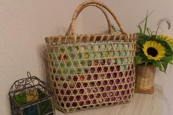 鳥越の竹かごバッグ