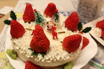 クリスマスケーキ・ヨーグルトデコレーションケーキ