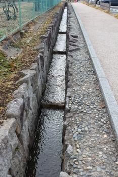 松代城城下町の水路